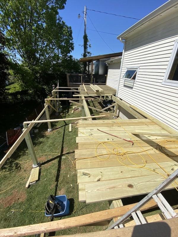 Back Deck Under Construction