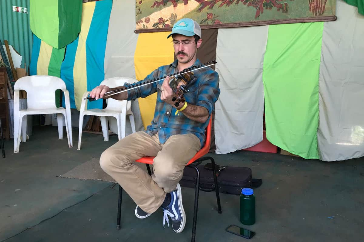 Andrew Small with Fiddle