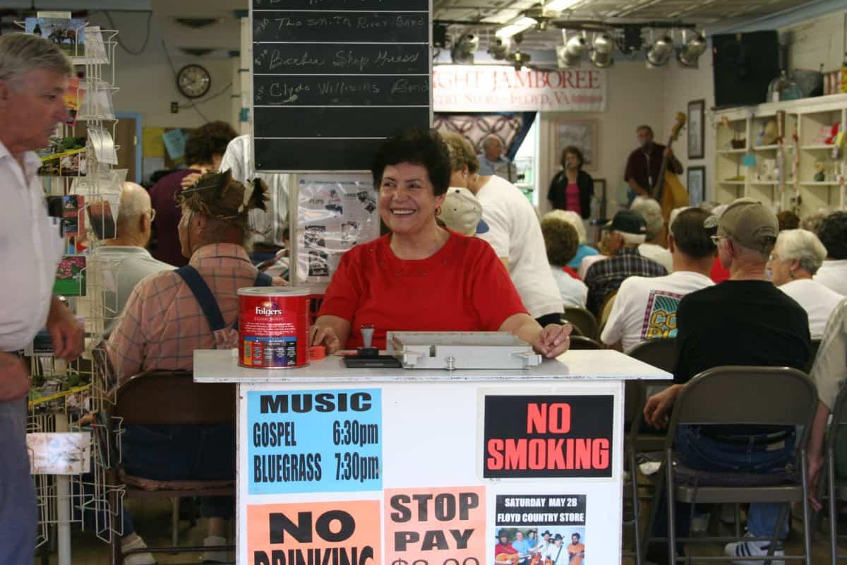 Barbara Pendry at ticket counter