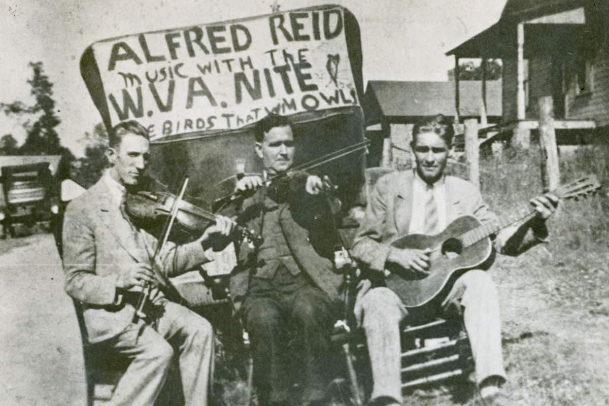 Blind Alfred Reed with Band