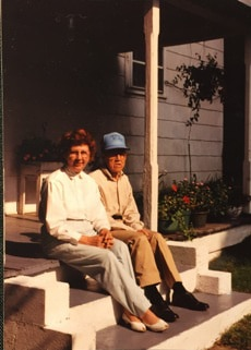Eula and Martin Marshall on Porch