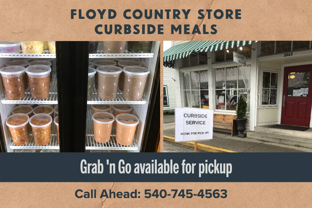 Floyd Country Store Curbside Meals (grab-n-go only)