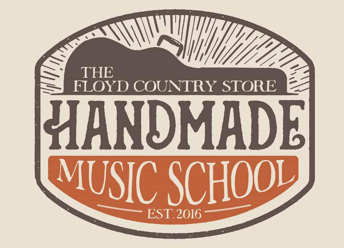 Handmade Music School Logo with Background
