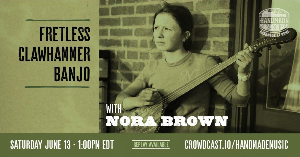 Nora Brown Fretless Banjo Banner