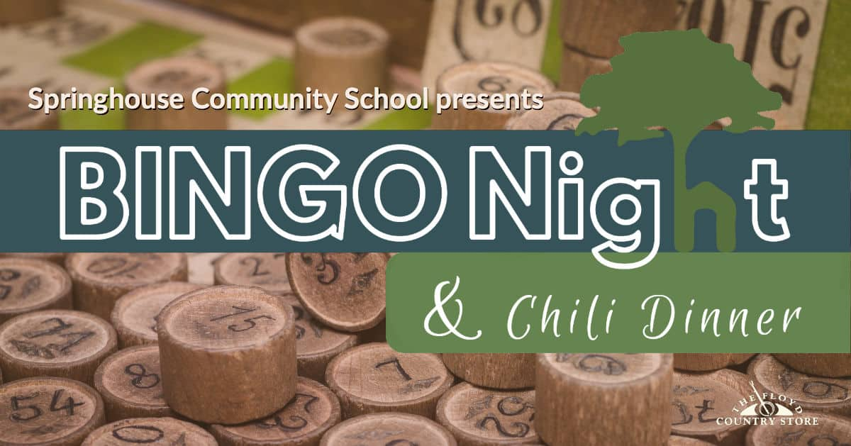 Springhouse School Bingo Night